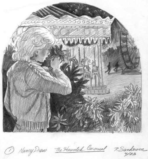 Haunted carousel - sketch