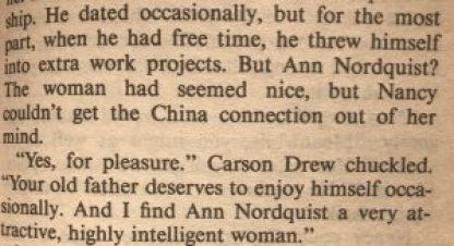 Carson börjar dejta Ann Nordquist