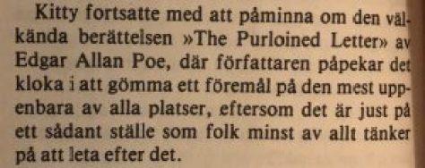 Det undansnillade brevet - Poe