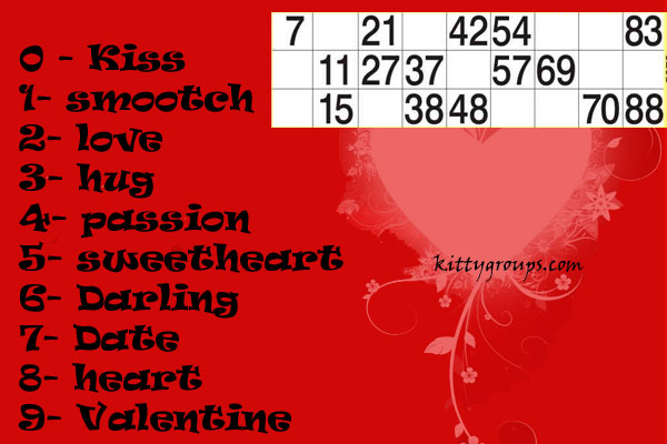 Valentine Games Valentine Theme Tambola Game