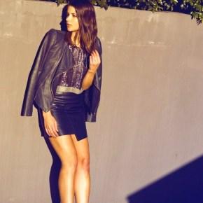 Кожаные юбки: на пике осенней моды