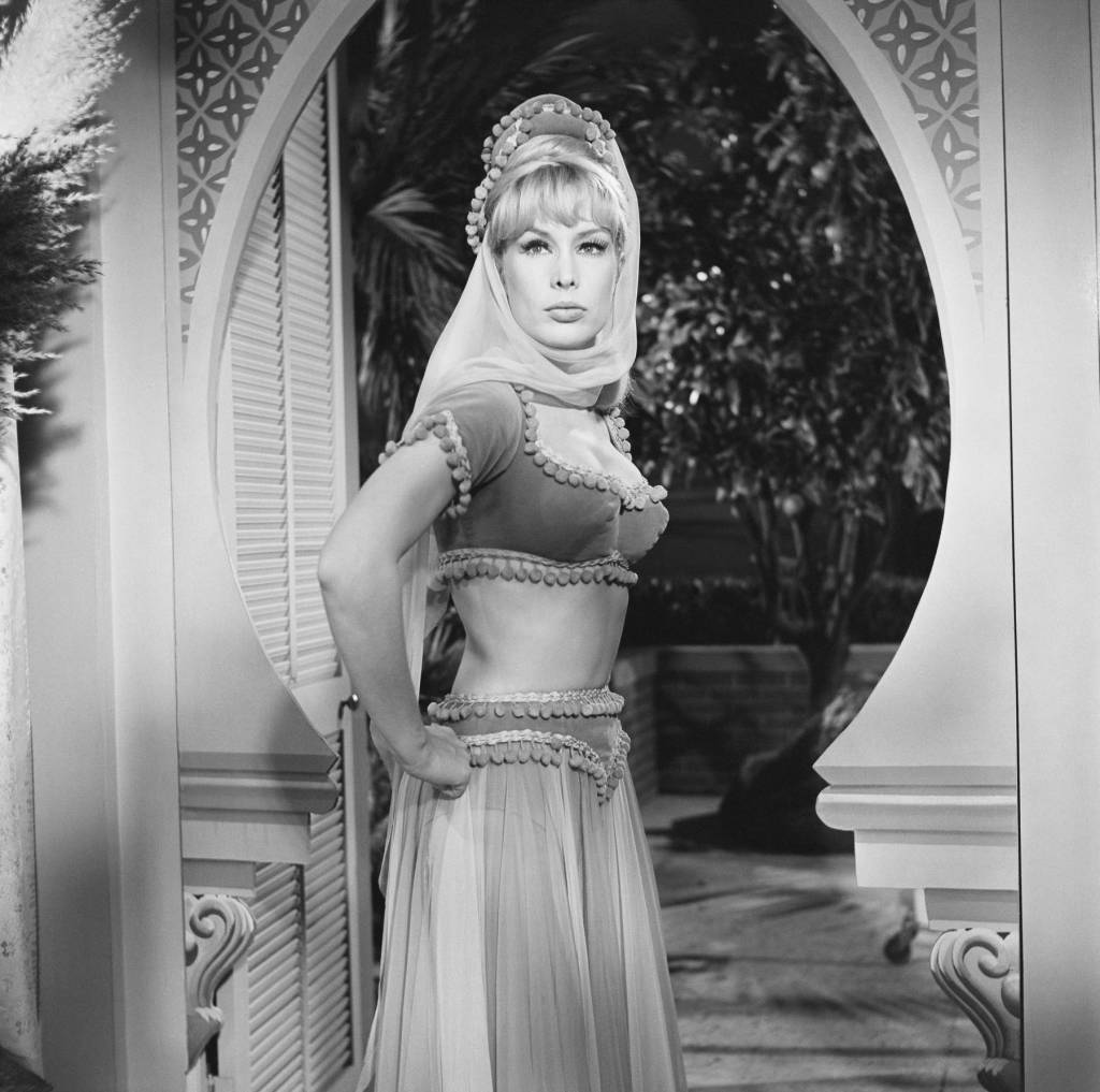 Actress Barbara Eden Dressed for Her Part in I Dream of Jeannie