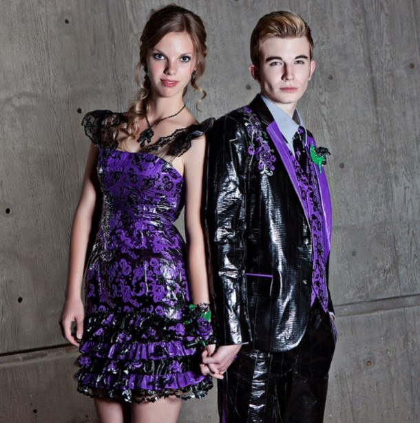 Платье для выпускного 2013 - Одежда из скотча
