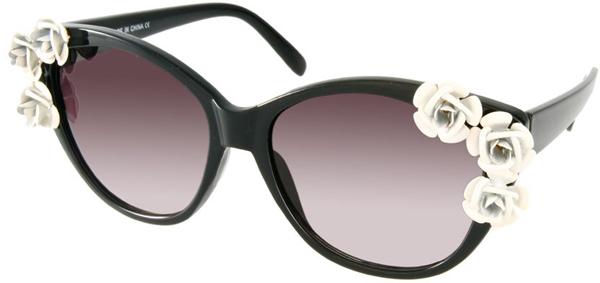 Украшение цветами - Солнцезащитные очки - тенденции модного декора 2013
