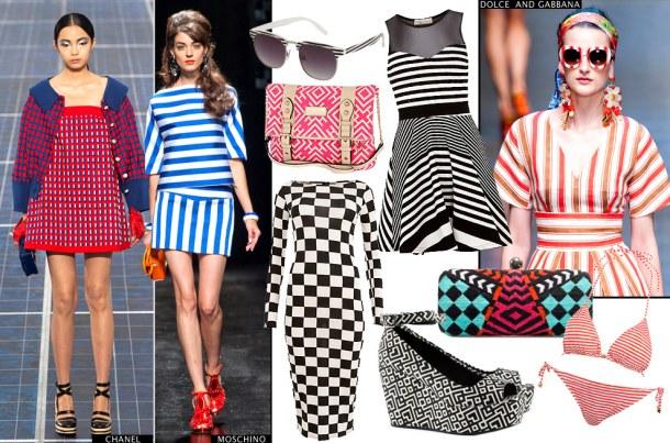 Геометрические принты - Тренд модной одежды 2013 года