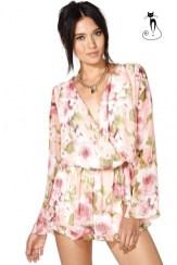 Комбинезон с цветочным принтом -26 модных летних комбинезонов - лето 2014