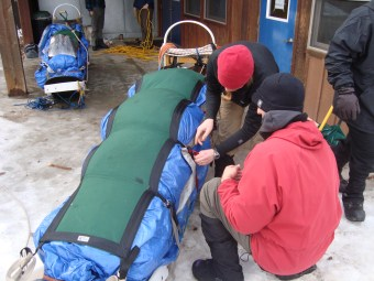 Packing the sled