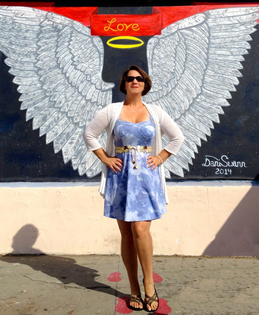 China Rose ~ Love Angel, Mason Murals, Santa Barbara, circa 2014