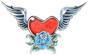 Winged Rose Heart