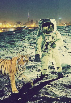 Tiger and Spaceman on Moon City