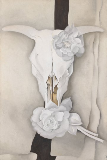 Cow Skull and Calico Roses