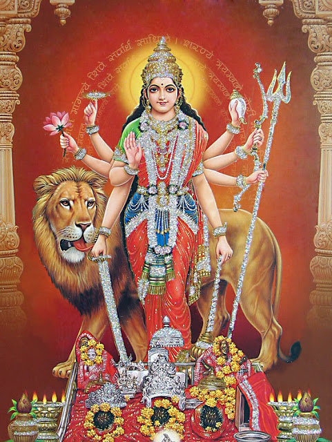 Goddess Durga in avatar of Vaishno devi