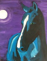 Blue Horse Full Moon