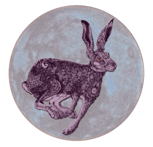 Celestial Hare | China Rose