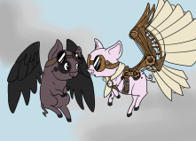 Steampunk Flying Pigs | Otterlore