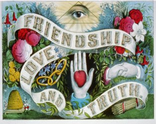 Masonic Love & Friendship | vintage goth poster