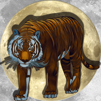 Lucky Moon Tiger   China Rose