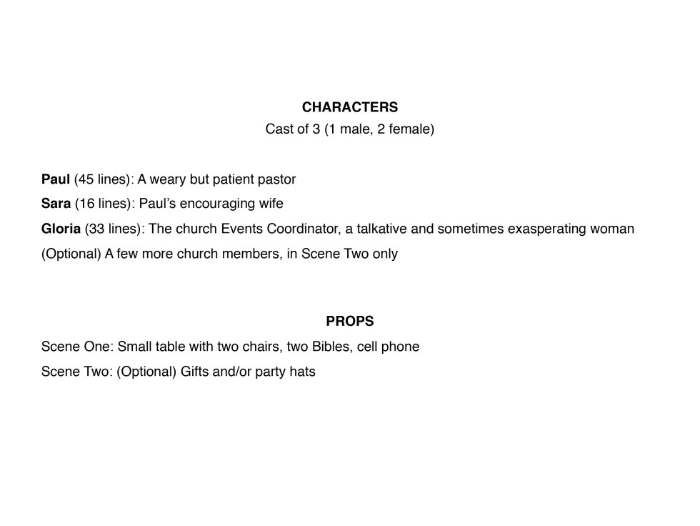 Just Ask Pastor! character list