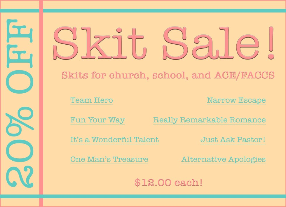 Sale: Skits for ACE/FACCS!