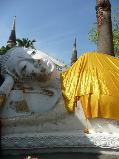 Reclining Buddah - some visitors paid to drape the statue in gold