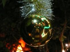 Christmas decoration reflection