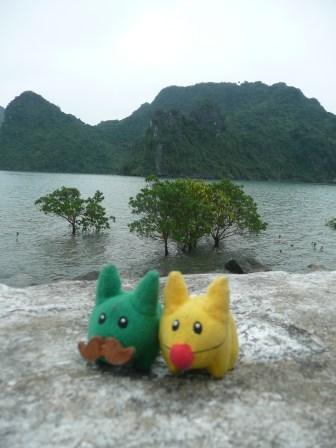 Calvin and Marshall love Halong Bay
