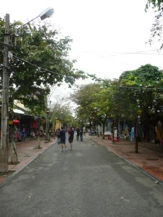 Walking along the sleepy streets