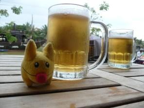 Calvin, Celine and I took a beer break