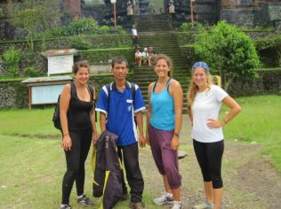 Lisa and Liberty with our guide