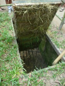 Booby trap at the CuChi Tunnels