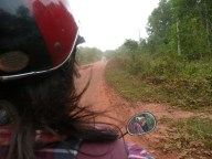 Motorbike ride with Celine