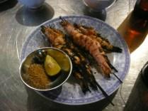 Giant prawns - grilled + salt + pepper