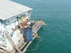 Floating fish market