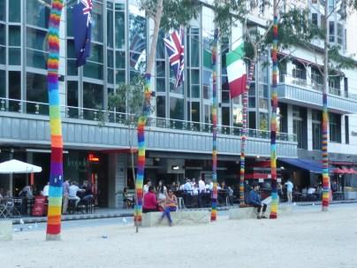 Yard bomb public art installation