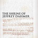 Masters, Brian: The Shrine of Jeffrey Dahmer