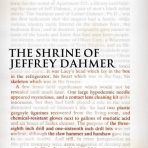 Masters, Brian: The Shrine of Jeffrey Dahmer