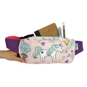 Kids bumbag unicorn print