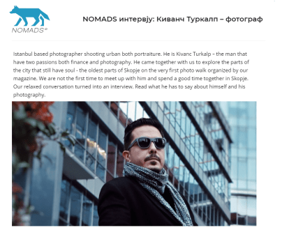 Nomads Magazine, Macedonia