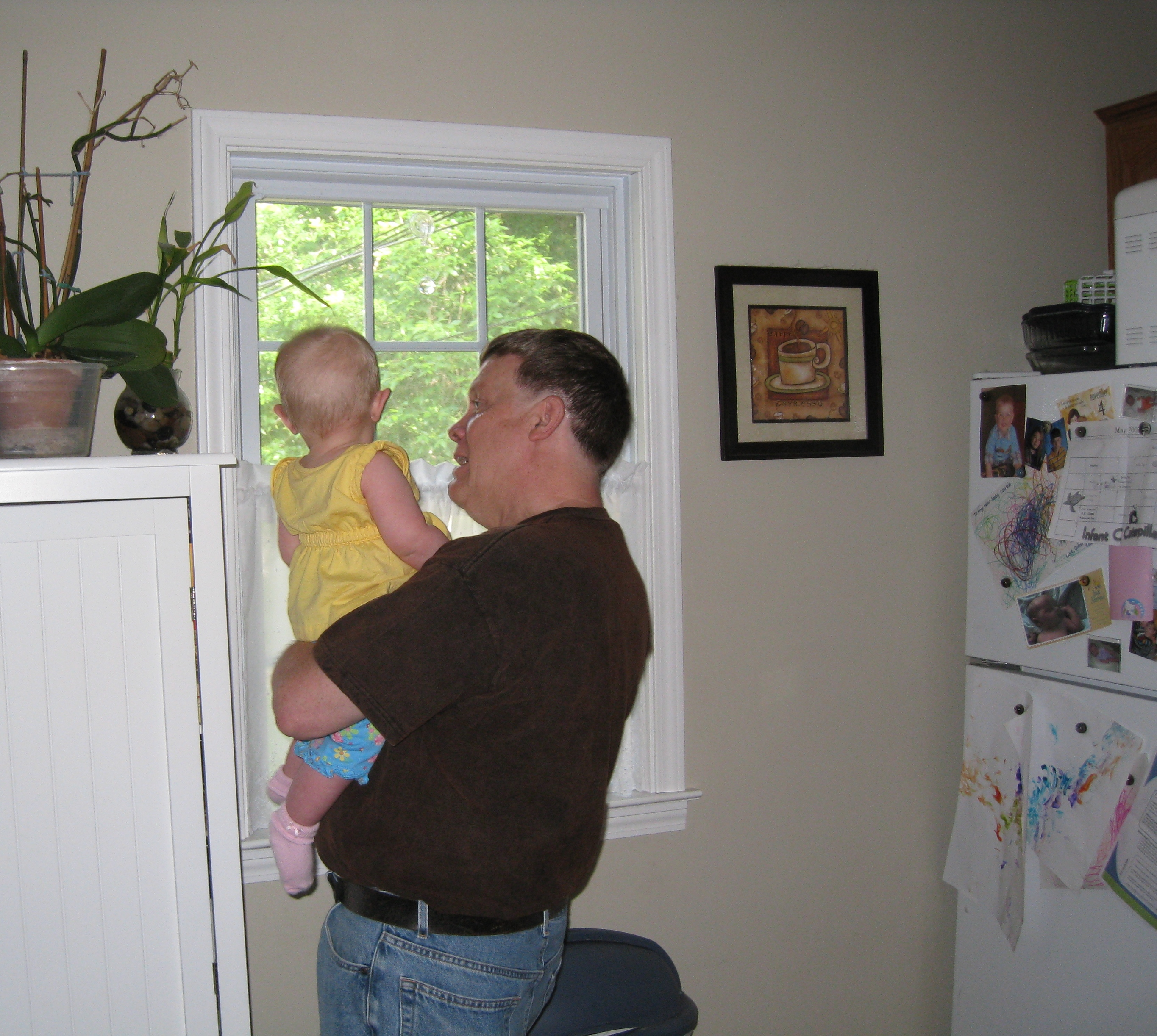 looking out the window with grandpa steve