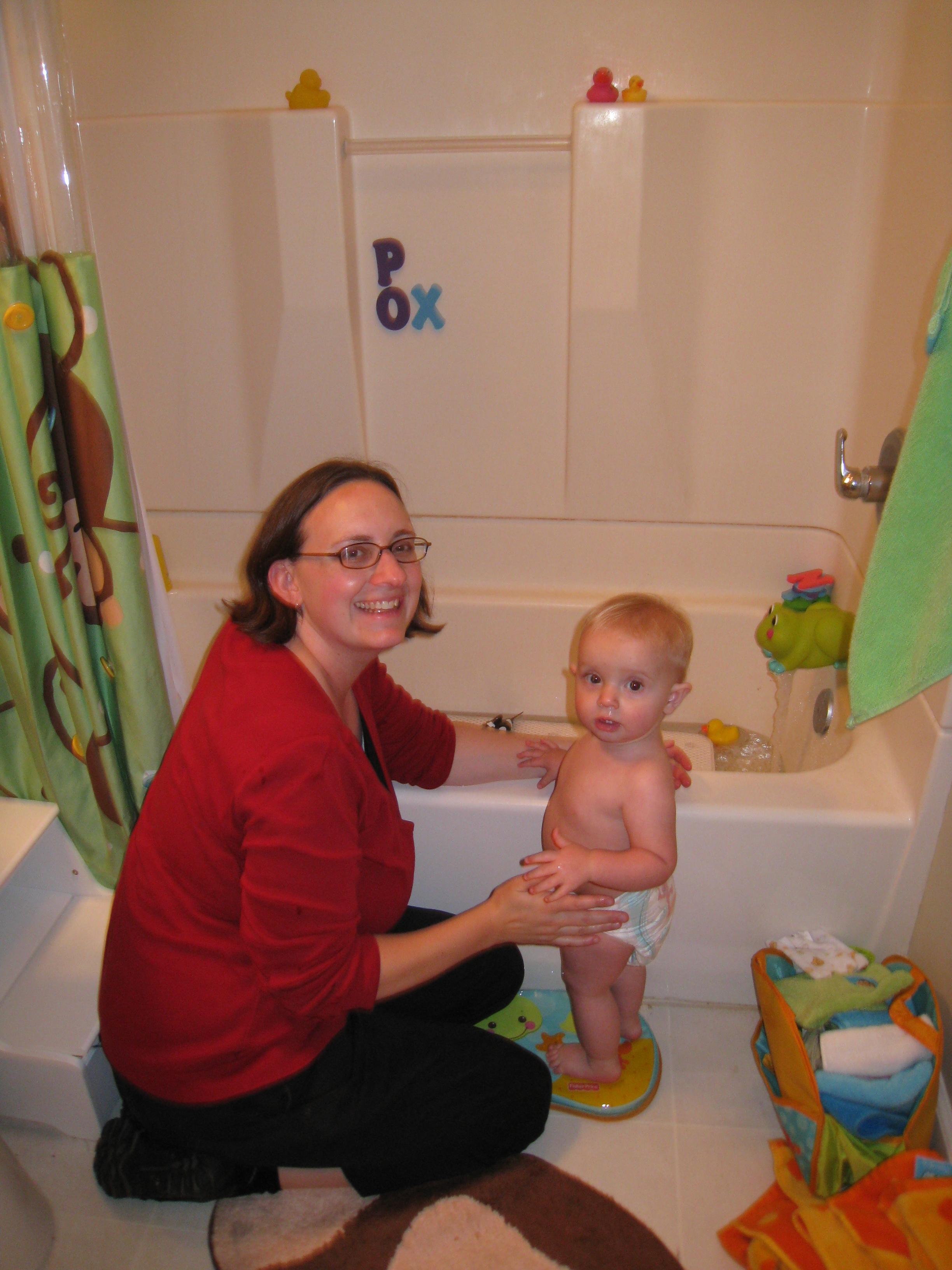 first big girl bath