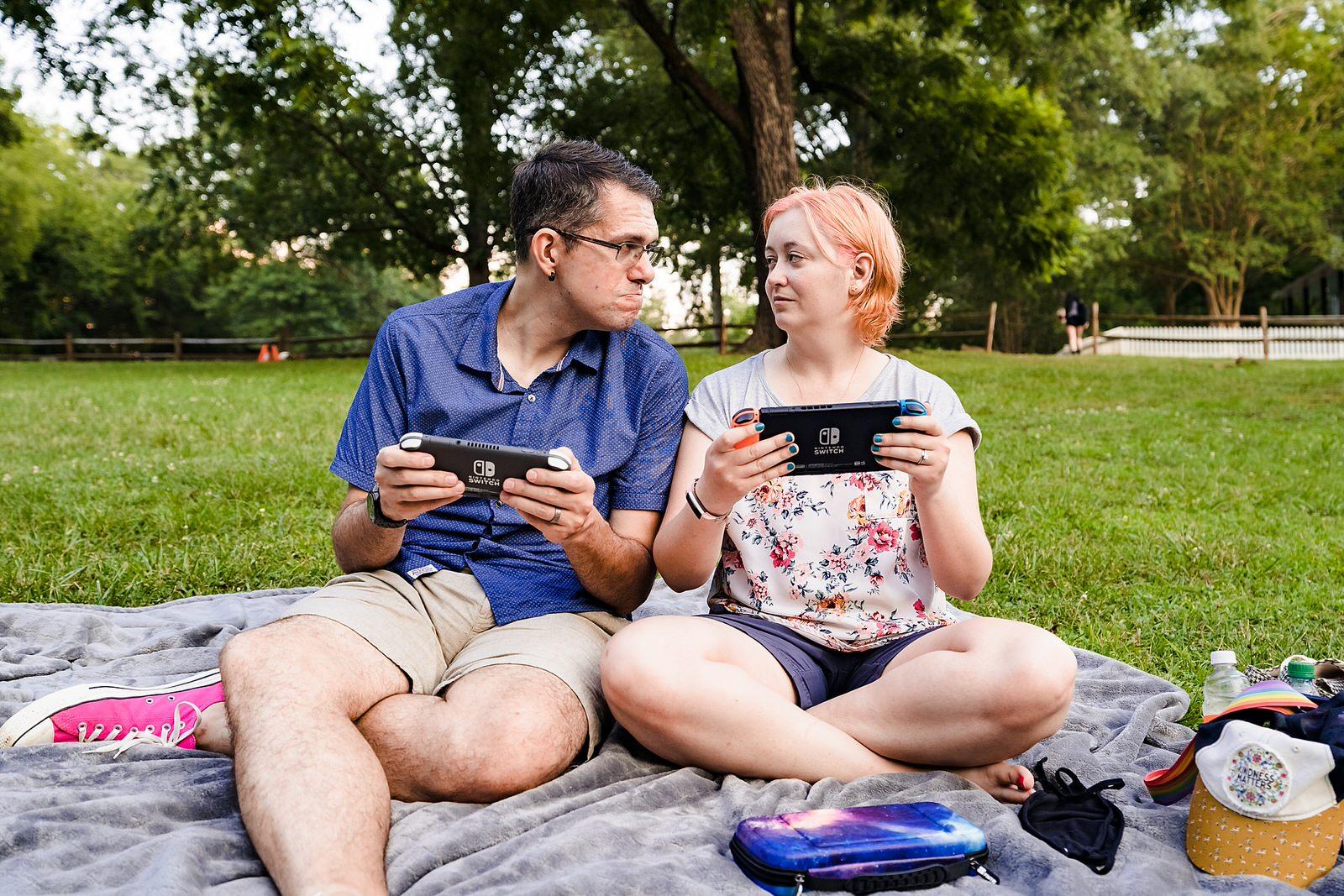 Nerdy Engagement Photos at the Eno River - Kivus & Camera