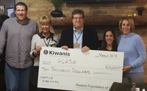 Lake Bluff Lake Forest Kiwanis gives check to GLASA