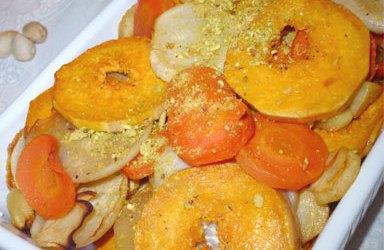 Butternut, panais et carottes rôtis