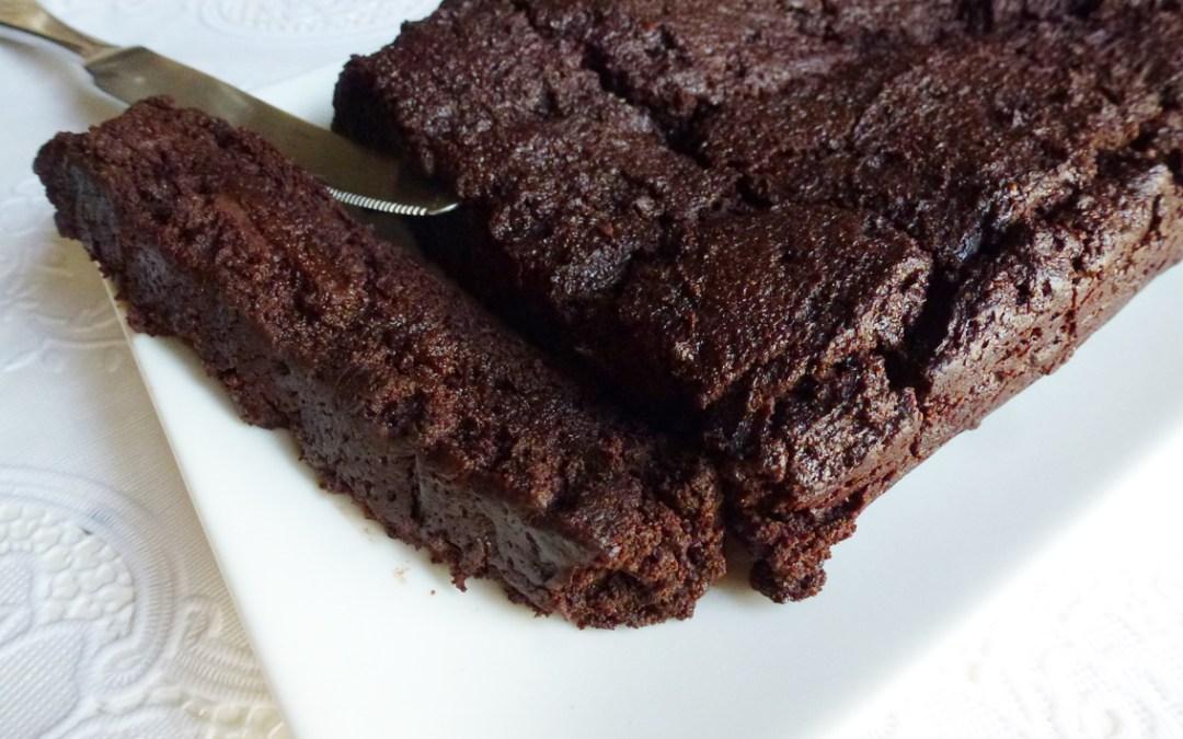 Gâteau tout choco…ou presque (sans gluten, vegan)