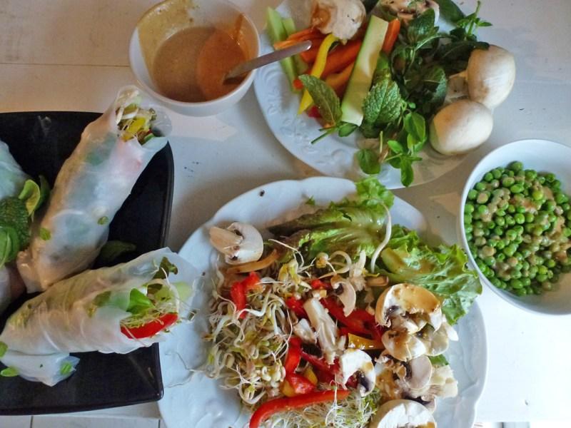 rouleau printemps -salade