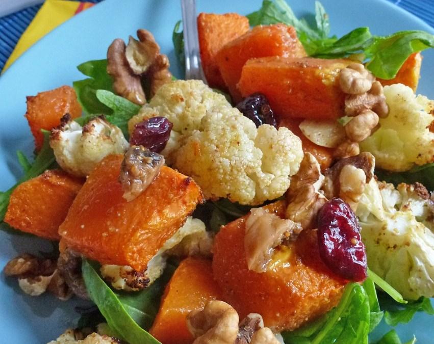 Salade tiède  d'hiver au parfum de cannelle et cumin