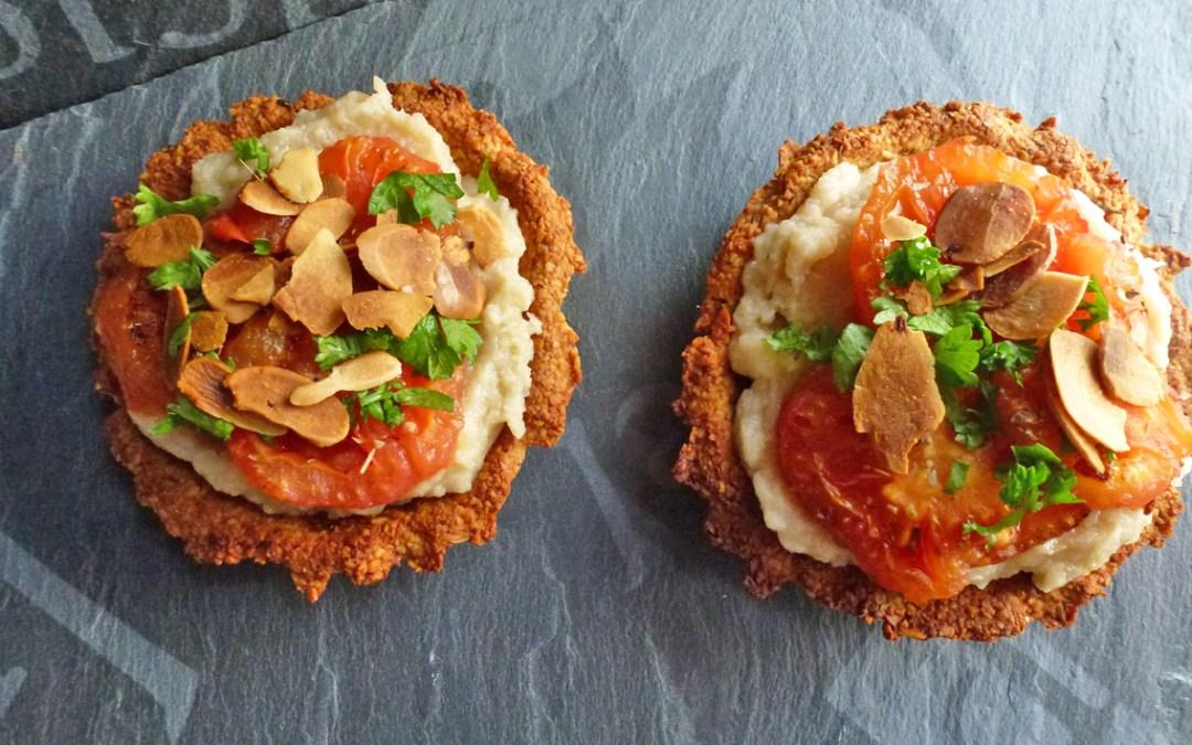 Tartelettes d'amandes et sa purée de légumes (sans céréales, vegan)