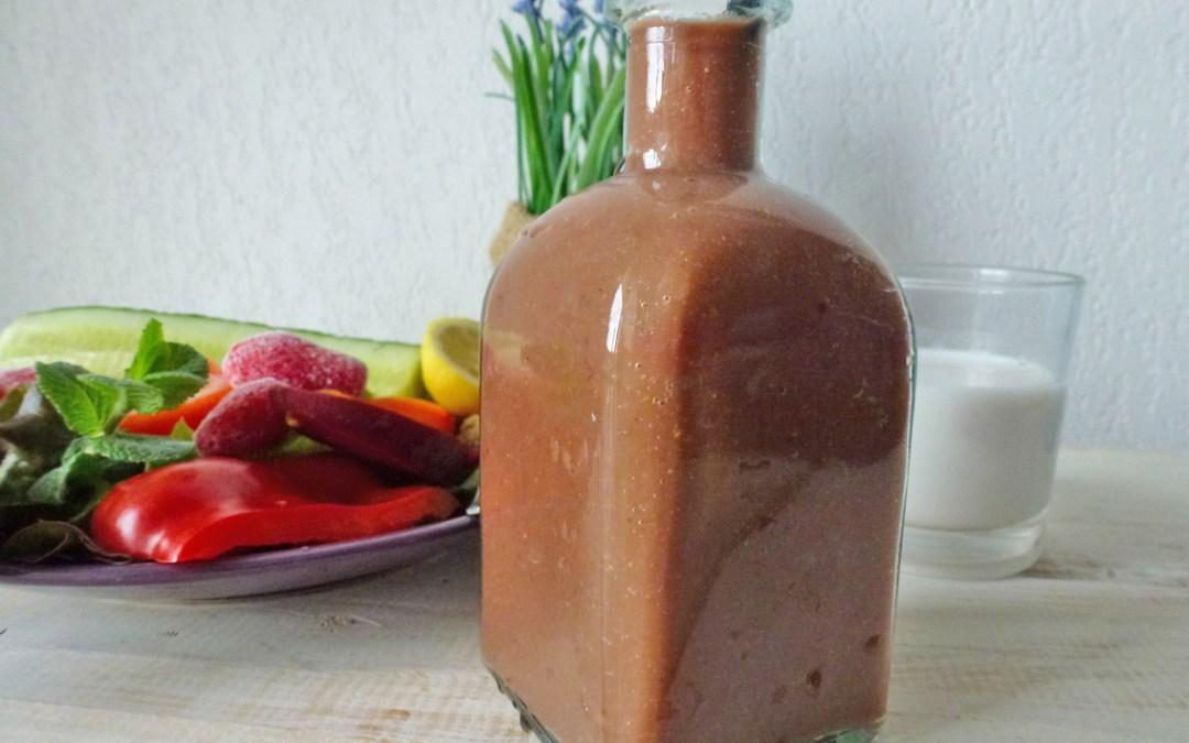 Green smoothie à la fraise et lait d'amande