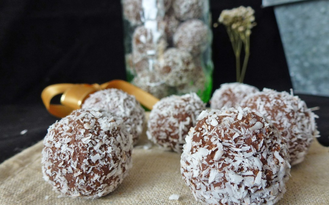 Boules choco coco ( sans gluten, végé, sans sucre ajouté )