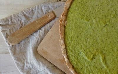 Tarte au brocolis et chèvre frais ( Sans gluten, allégée, + option sans fromage )